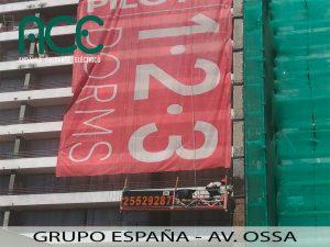 Grupo España-Av. Ossa-Andamios Colgantes